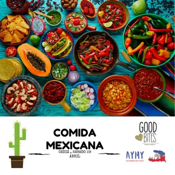 Cartell comida mexicana Cádiz