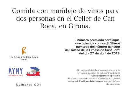 Sorteig Celler de Can Roca