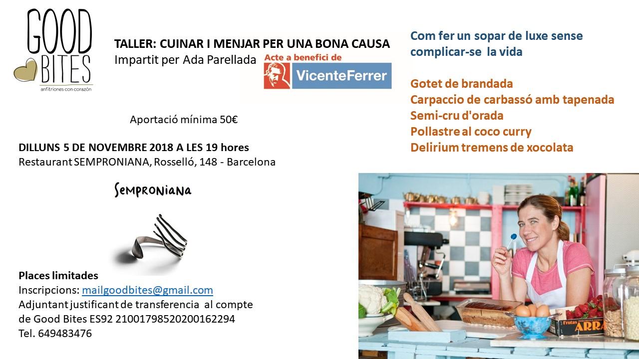 Taller cuina Ada Parellada (Rest. SEMPRONIANA)